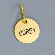 Round Brass Tag Nameplate