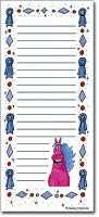 Pink Horse with Blue Ribbons List Pad