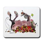 Falling Leaves Mouse Pad